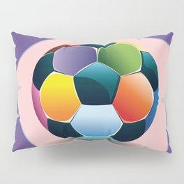 Soccer ball inside pink pentagon Pillow Sham