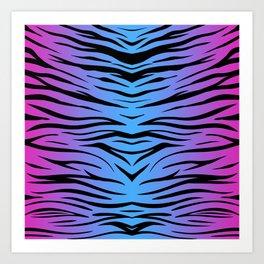 Magic Zebra Art Print