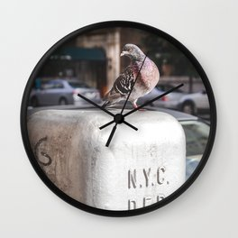 NYC Pigeon Wall Clock