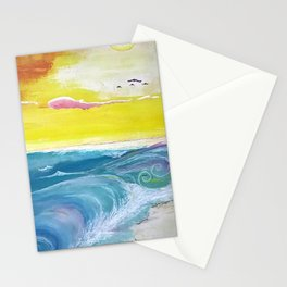Beachy Shore Stationery Cards