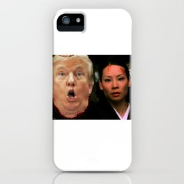 Pussy Grabs Back: Lucy Liu vs. Donald Trump iPhone Case