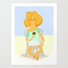 Calor & Helado Art Print
