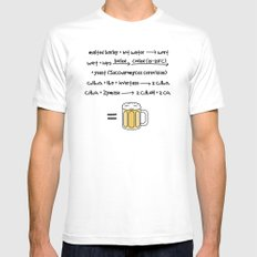 Beer X-LARGE White Mens Fitted Tee