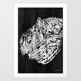 Negative rabbit Art Print