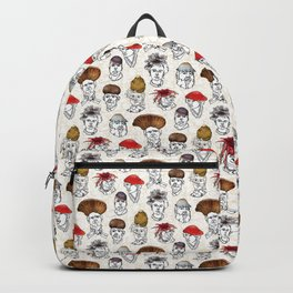 Funghis and Gals, Haute Couture Mushroom hats Backpack