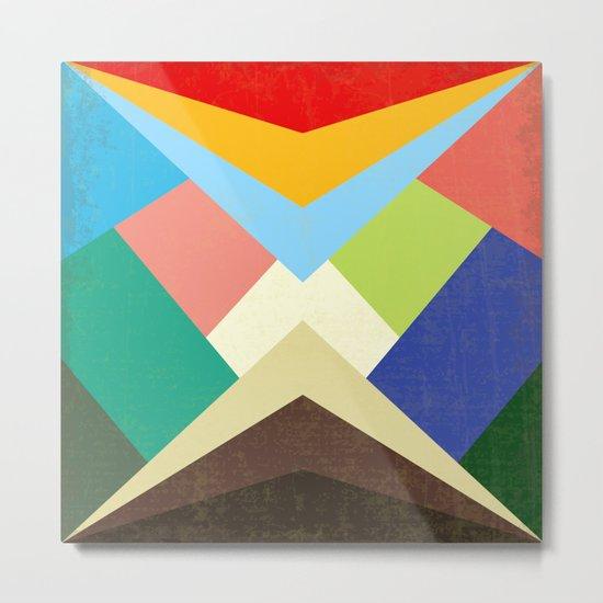 Geometric - Abstract - Triangles - V1 Metal Print