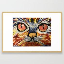 Kitty Face -copper Eyes Framed Art Print