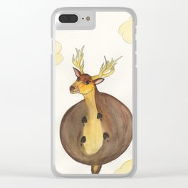 Deer In The Sky Clear iPhone Case