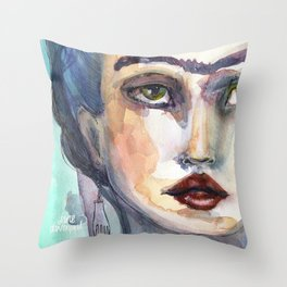 Frida Forever by Jane Davenport Throw Pillow
