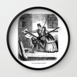 Are You Looking At My Bird? Wall Clock