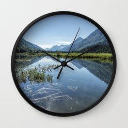 Reflections on Tern Lake Wall Clock
