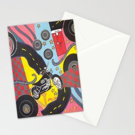 GraphicMusicAndMemorabiliaCollage Stationery Cards
