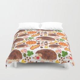 Autumn Hedgehog Duvet Cover