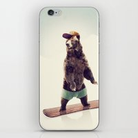 snowboard iPhone & iPod Skins featuring Board by Seaside Spirit
