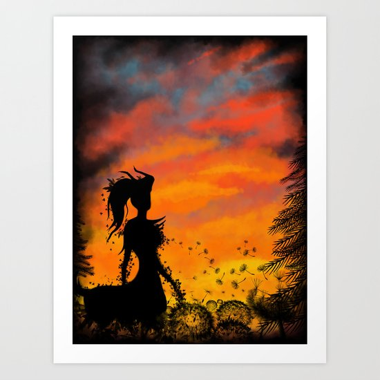 Magical Sunset Art Print