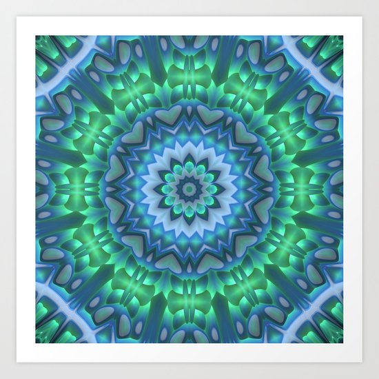 Fan Out Mandala Art Print