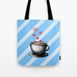 Hey Coffee, I think I love you. Tote Bag