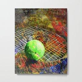 Tennis art print work vs 9 Metal Print