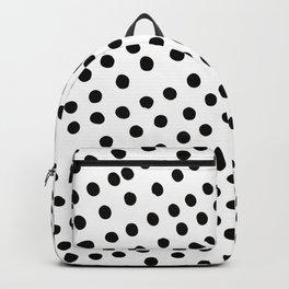 Warped Black Polka Dot Rain Backpack