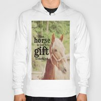 arab Hoodies featuring Horse Quote Arab proverb by KimberosePhotography