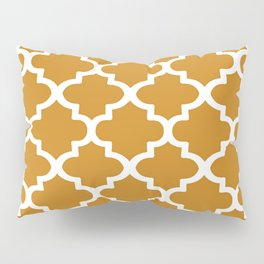 Arabesque Architecture Pattern In Golden Color Pillow Sham