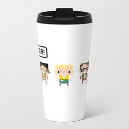 The Big Bang Theory Pixel Characters Metal Travel Mug