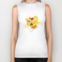 sailor venus Biker Tanks featuring Sailor Venus by Eileen Marie Art
