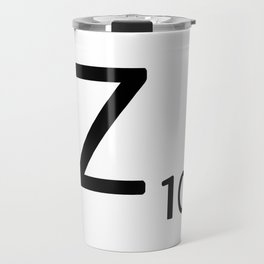 Letter Z - Custom Scrabble Letter Tile Art - Scrabble Z Initial Travel Mug