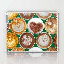 Latte Polka Dots in Winter Green Laptop & iPad Skin