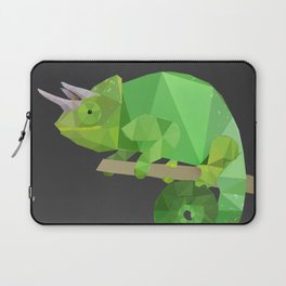Low Poly Chameleon Laptop Sleeve