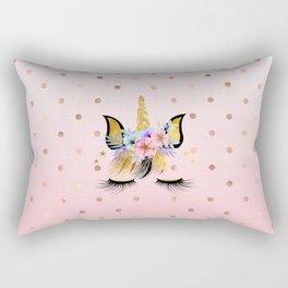 Floral Unicorn  Rectangular Pillow