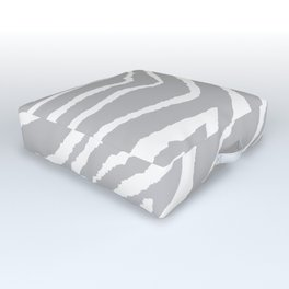 ZEBRA GRAY AND WHITE ANIMAL PRINT Outdoor Floor Cushion