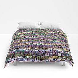 Beethoven Op 29 - Rainbow Music Collage Comforters