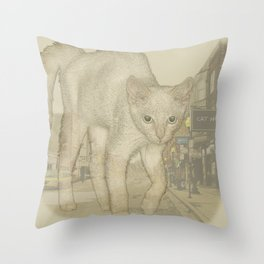 Ghost Kitty Throw Pillow
