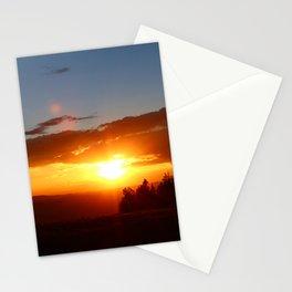 Vivid Mountain Sunset Stationery Cards