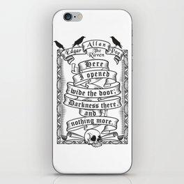Edgar Allen Poe - The Raven iPhone Skin