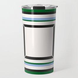 Green Blue And White Tile Travel Mug