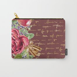 Elegant Christmas - burgundy rose Carry-All Pouch