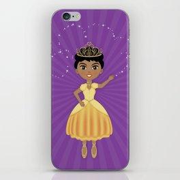 African American Princess // Yellow and Purple iPhone Skin