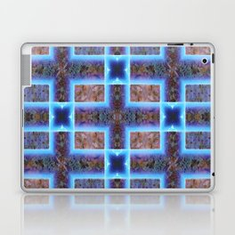 geometric ink blot and smudge ancient techno geek pattern Laptop & iPad Skin