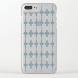 Tiles Gray Clear iPhone Case