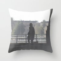 soldier Throw Pillows featuring Soldier by Damien Richard