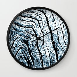 Driftwood Blue Wall Clock