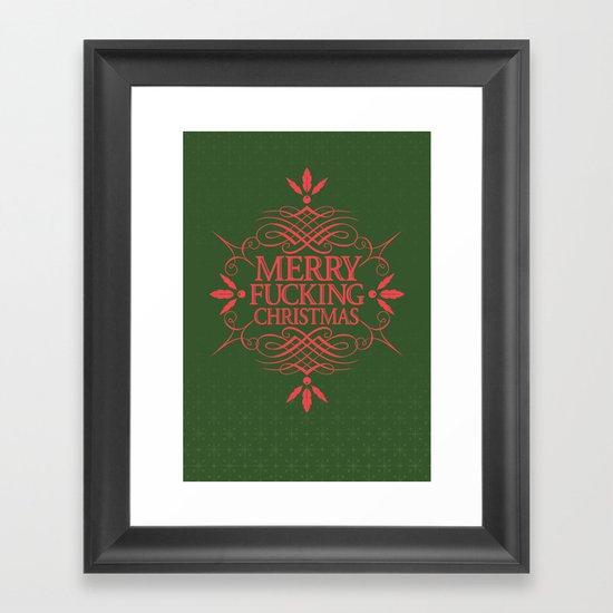 Merry Effin Christmas Framed Art Print