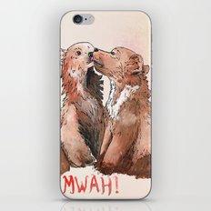 Bear cub kiss iPhone & iPod Skin