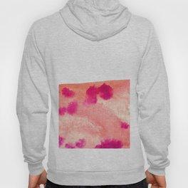 pink big smear Hoody