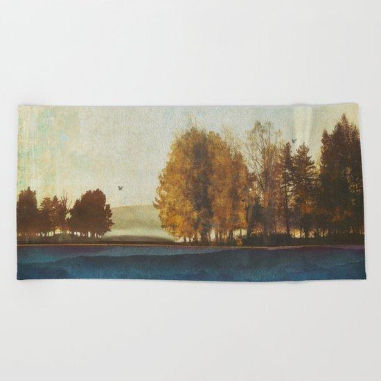 Autumn Afternoon Beach Towel