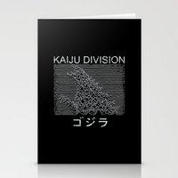 kaiju Stationery Cards featuring Kaiju Division by pigboom el crapo