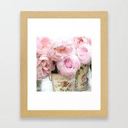 Paris Shabby Chic Peonies French Belle Fleur Floral Prints Home Decor Framed Art Print