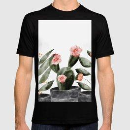 Watercolor Cactus Floral T-shirt
